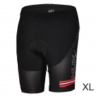 NUCKILY BK277 Outdoor Cycling Man's Quick Dry Dacron Lycra Short Pants - Black (Size XL)