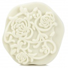 FSQZ02 DIY Retro Flower Pattern Wall Paint Sponge Stamp Tool Mould - White