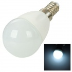 E14 1,5 W 120lm 6000K 3528 LED White Light Bulb - Silber + Weiß