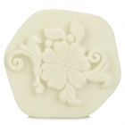 FSQZ01 DIY Plum Blossom Pattern Wall Paint Sponge Stamp Tool Mould - White