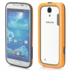 Protective Silicone Bumper Frame for Samsung S4 - Orange + Grey