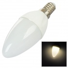 E14 1.5W 120lm 3000K 3528 LED Warm White Light Candle Lamp - Silver + White