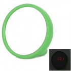 Cosmetic Mirror LED Alarm Clock - Green (2 x AAA)