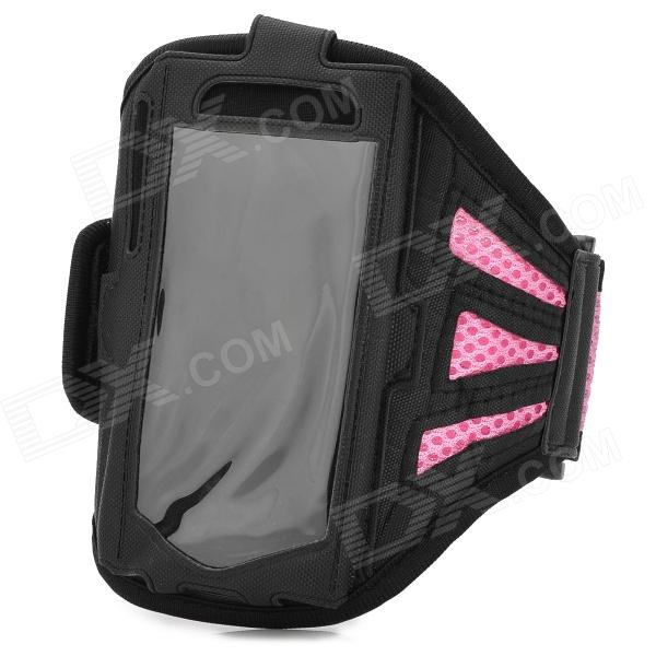 цена на Sport Protective Mesh Armband for Samsung Galaxy S4 Mini / i9190 - Pink + Black