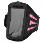 Sport Protective Mesh Armband for Samsung Galaxy S4 Mini / i9190 - Pink + Black