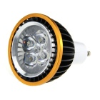GU10 5W 3500K 300lm 5-LED Warm White Light Spotlight  - Black + Golden (85~265V)