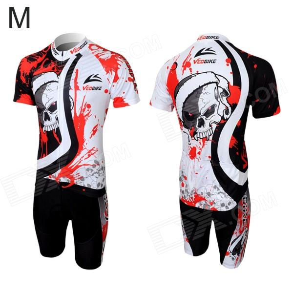 Фото Veobike Men's Cycling Short Sleeve Sweat Nylon Suit - Black + Red + White (Size M) часы nixon porter nylon gold white red