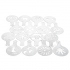 Stainless Steel Fancy Garland Coffee Mould Kit - Silver (16 PCS)