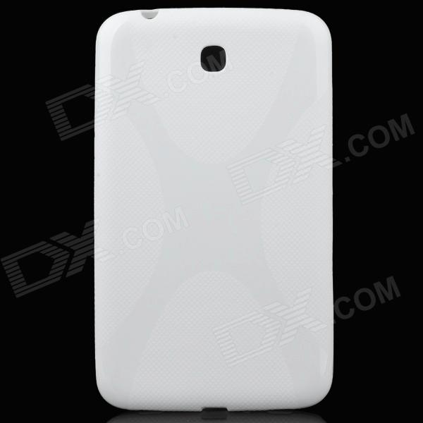 Protective TPU Case for Samsung Galaxy Tab 3 P3200 / P3210 - Milky-white