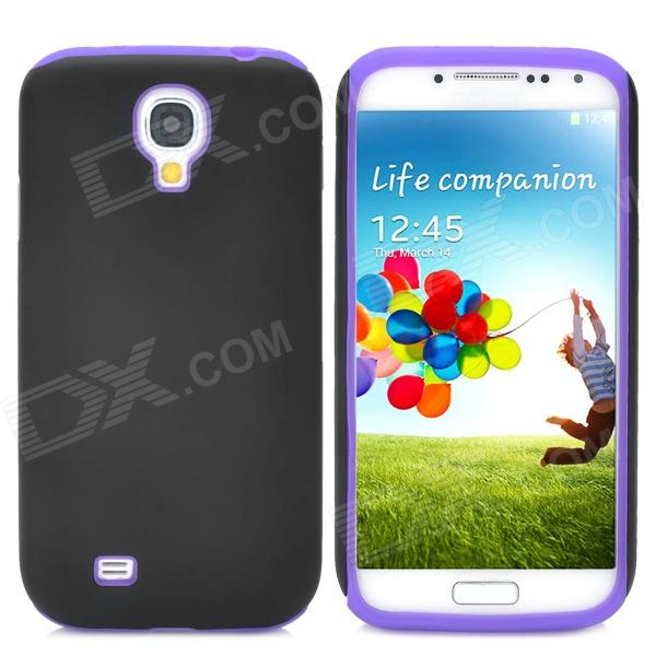 2-in-1 Detachable Silicone Plastic Protective Back Case for Samsung Galaxy S4 - Purple + Black 2 in 1 detachable protective tpu pc back case cover for samsung galaxy note 4 black