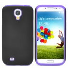 2-in-1 Detachable Silicone Plastic Protective Back Case for Samsung Galaxy S4 - Purple + Black