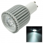 GU10 6W 6000K 240lm 3-LED White Light Bulb - Silber (85 ~ 265V)