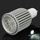 GU10 8W 320lm 6000K 4-Epileds LED White Light Bulb - Grey
