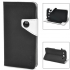 IDEWE Fashion Flip-Open Style PU Leather Case for LG F240K / F240 - Black + White