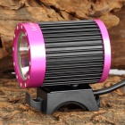 LetterFire LF19 400lm 4-Mode White Bicycle Headlamp w/ Cree XM-L T6 - Deep Pink + Black (4 x 18650)