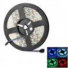 72W 7000K 4500lm 300 SMD 5050 LED Waterproof Light Strip - Black + White (5 M)