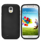 Protective Silicone Plastic Back Case w/ Stand for Samsung Galaxy S4 / i9500 - Black