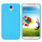 Creative Plastic Back Case w/ Card Holder for Samsung Galaxy S4 - Blue