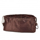 Cosmetic Toiletries Electronics Nylon Storage Bag - Coffee