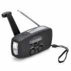 HY HY-088 Solar Powered / Hand Crank AM / FM Radio / LED Flashlight - Black