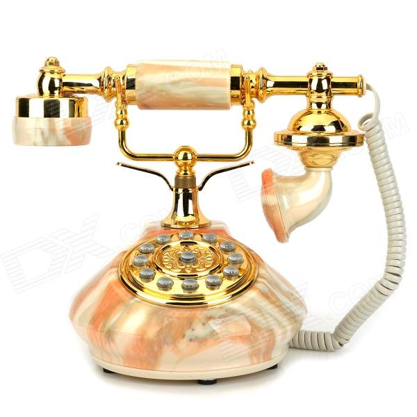 KXT-635 Retro Wired Telephone Set - Multicolored