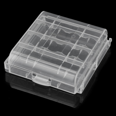 Hard Plastic Case Holder Storage Box for 4*AA / AAA - Transparent