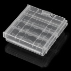 Hard Plastic Case Holder Storage Box for 4 x AA / AAA - Transparent