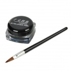 AE033 Water Resistant Makeup Cosmetic Eyeliner Gel w/ Brush - Black