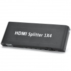 HDMI 1.3 Video Audio Splitter - Black + White (1-In / 4-Out / 2-Flat-Pin Plug)