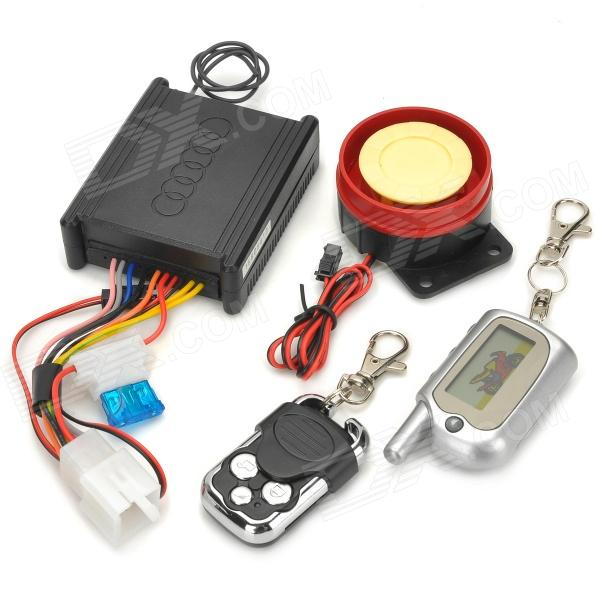 MT-888 Convenient Universal Anti-theft Alarm Set for Motorcycle - Black