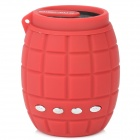 X-183 Novel Mini Grenade Style Portable TF Card MP3 w/ Speaker & FM - Red (32GB Max.)