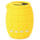 X-183 Novel Mini Grenade Style Portable TF Card MP3 w/ Speaker & FM - Yellow (32GB Max.)