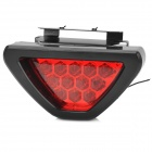 12V 75lm 12 LEDs Red Light Taillight / Stoplight Flashing Light for Motorcycle - Black