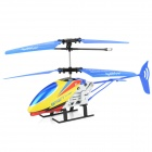 JIA QI TT1005 Mini 2-CH IR Remote Control Aluminum Alloy R/C Helicopter - Blue + Yellow