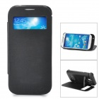 "5V ""3200mAh"" Lithium Battery Power Bank Case w/ Stand + LED Indicator for Samsung i9500 - Black"