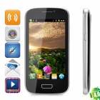 "7080 Android 4.0 GSM Bar Phone w/ 4.0"" Capacitive Screen, Wi-Fi and Quad-Band - Black + Silver"