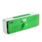 G.G.G I-COOL Rechargeable Repeat Speaker w/ TF / FM Radio - White + Green