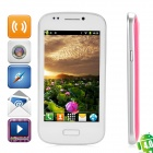 "7080 Android 4.0 GSM Bar Phone w/ 4.0"" Capacitive Screen, Wi-Fi and Quad-Band - Deep Pink"
