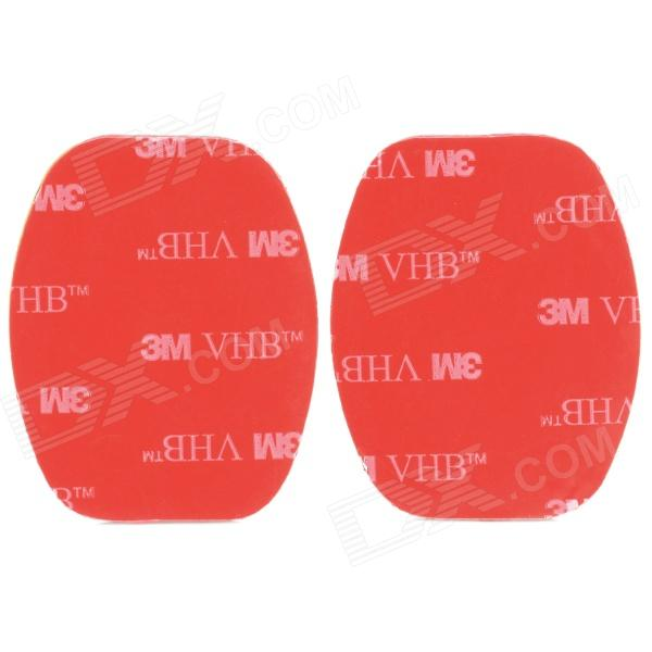 A-SF Universal Water Resistant 3M Flat Adhesive Sticker for Gopro Hero 4/ / 2 / 3 / 3+ (2 PCS)