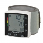 "AOEOM ABP-W6200-5 2.5"" LCD Digital Voice Prompt Arm Auto Blood Pressure Monitor - White (2 x AAA)"