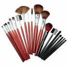 MEGAGA 310 Professional Cosmetic Makeup Brushes Set w/ Carrying Bag - Deep Pink + Black (12 + 7 PCS)
