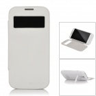 Portable 3200mAh External Battery Back Case w/ Stand / Indicator for Samsung i9500 - White