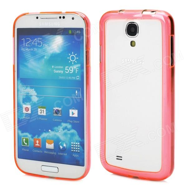 3-in-1 Protective Bumper Frame w/ Screen Protector Stylus Pen for Samsung i9500 - Translucent Pink