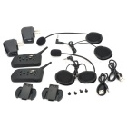 Bluetooth 1-to-5 Walkie Talkie Helmet Speaker - Black (Pair)