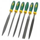 WLXY 6-in-1 Professional PVC + Bearing Steel Files Set - Deep Green + Yellow + Black