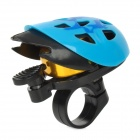 Stylish Novel Helmet Style Bell for Bicycle - Blue + Black