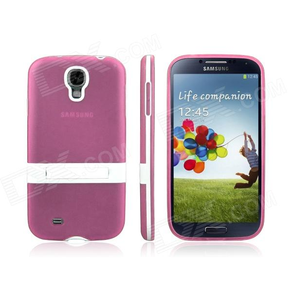 ENKAY Protective Soft TPU + Plastic Case Cover for Samsung Galaxy S4 / i9500 - PinkTPU Cases<br>ModelsSamsungQuantity1MaterialTPUForm  ColorPinkCompatible ModelsSamsungOther FeaturesEasyPacking List1 x Back case<br>