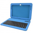 Seenda drahtlose Bluetooth v3.0 84-Key Keyboard Case für Samsung Galaxy Note N8000 10,1 - Light Blue