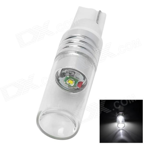 HJT10-5W 5W 150LM T10 White Light LED Light w/ CREE XP-E R3 for Cars - White + silver