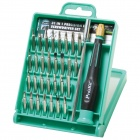 Pro'skit SD-9802 31-in-1 Precision Screwdriver Set for Cellphone / Notebook - Silver + Green